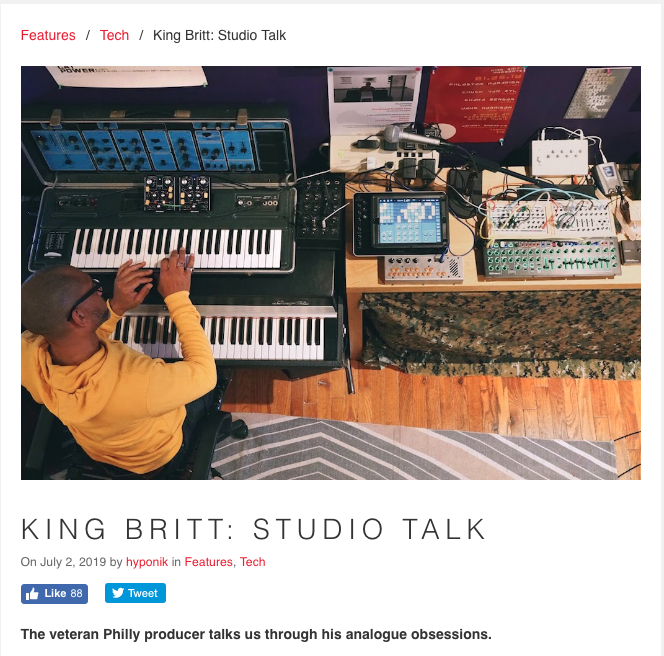 KING BRITT: STUDIO TALK - HYPONIC