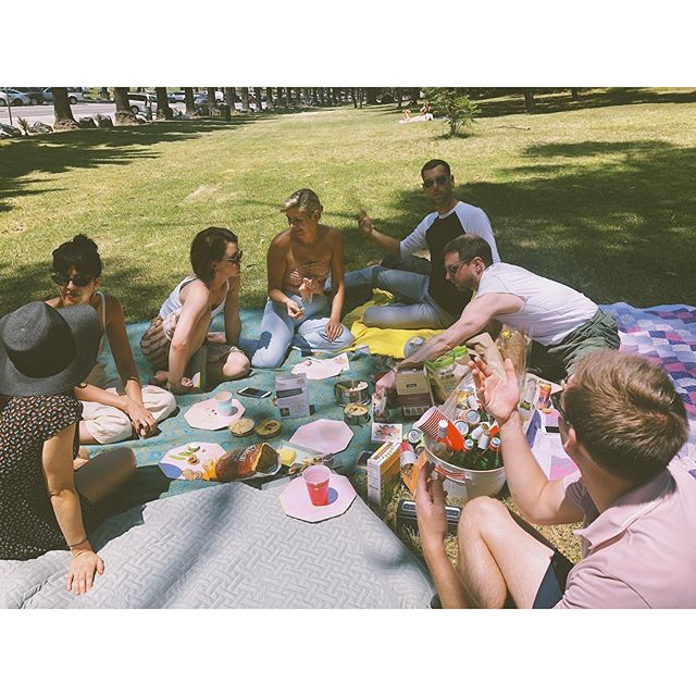 picnic with my people 🍉💛🌈 my heart is so full + so grateful for all of you making me feel so special!