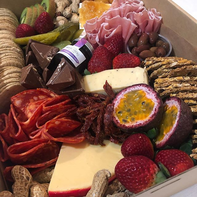 Gluten Free | We created this glorious Gluten Free Grazing Box for one of our beautiful customers this week ✨ We're always happy to customise our boxes to suit your dietary requirements! . There's still plenty of time to order your weekend deliveries through our website.
