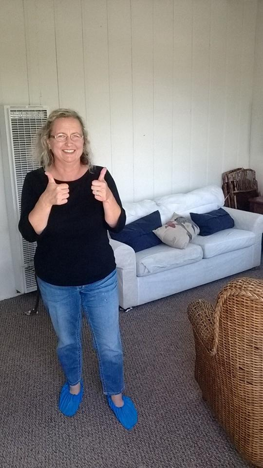 Dana and her clean carpets for her Dana Point beach rental!