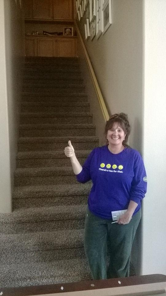 Thumbs up from a very happy customer! Thank you for letting us clean your carpets and rugs.