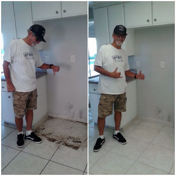 Ed had some tile issues in his rental property. Now he's a happy camper!