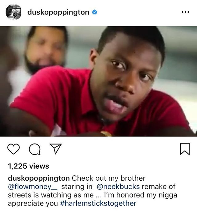 Wow Man Wow!!! Dame Dash Reposted #StreetsIsWatching 2018 @duskopoppington U Made My Day Big Homie #Harlem Love/Respect