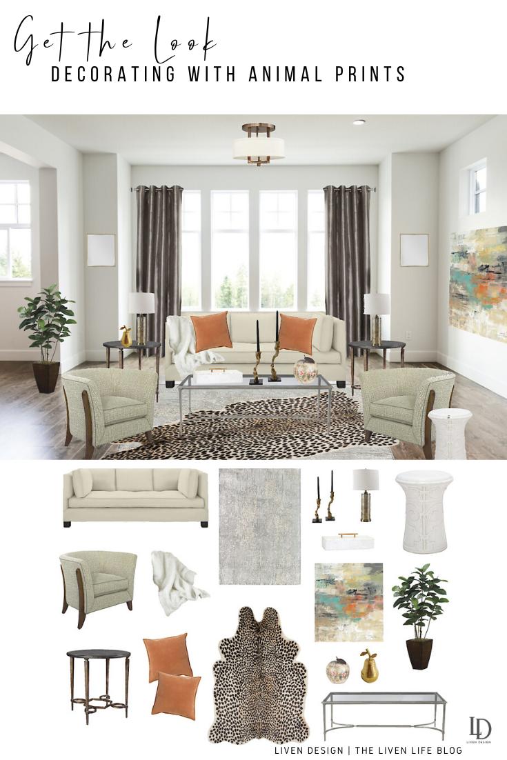 Get The Home Decor Look Animal Print Living Room Liven Design