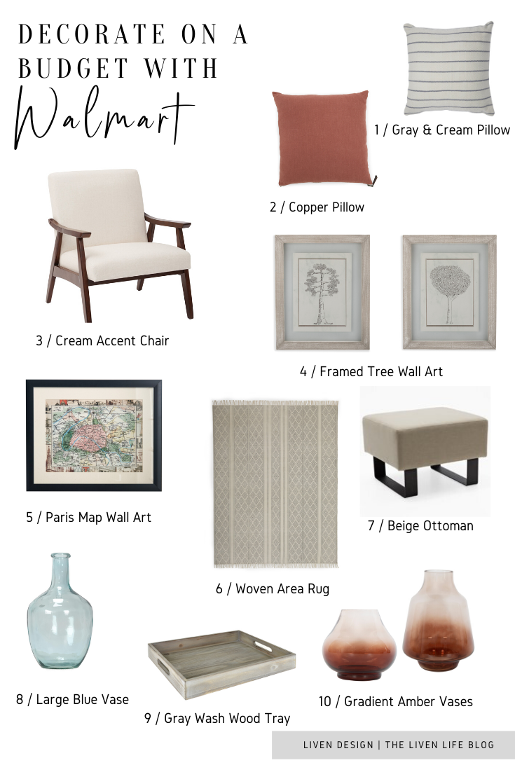 How To Decorate On A Budget With Home Decor From Walmart Liven Design
