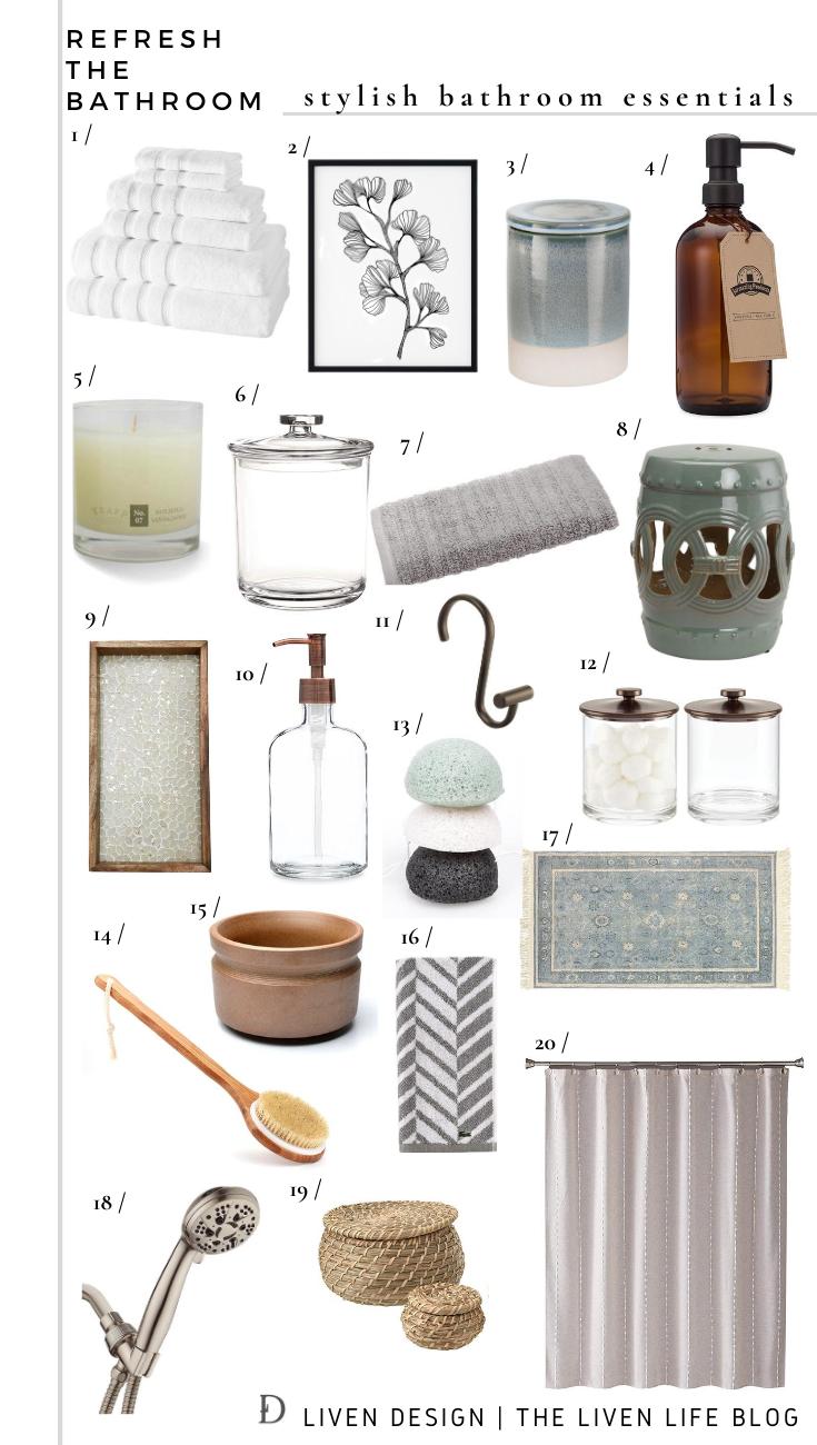 Refresh The Bathroom With Amazon Bathroom Styling Essentials Liven Design