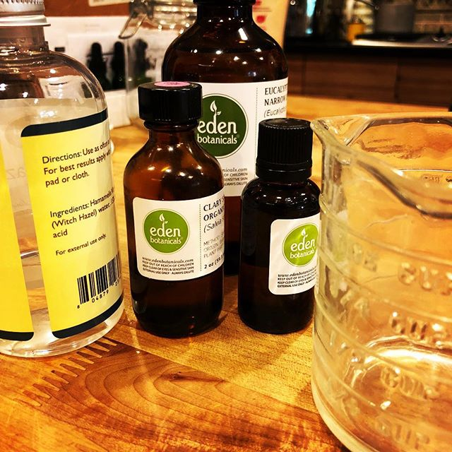 New product formulation day! Working on something for hot flash sufferers.