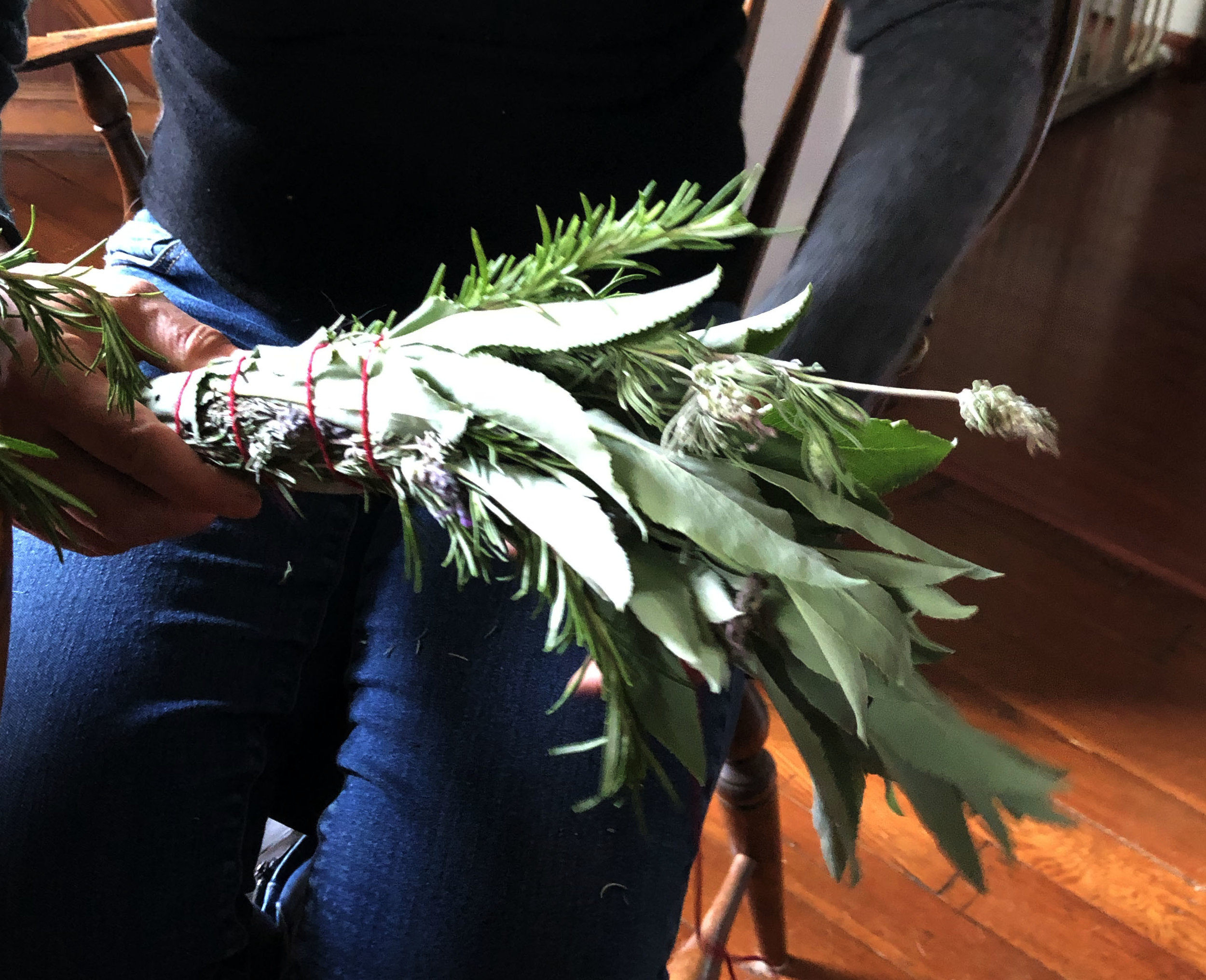 White Sage, and Mint Smudge Stick
