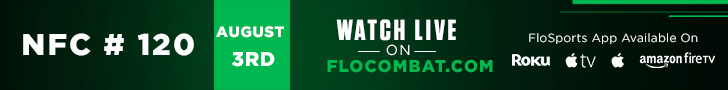 NFC #120 WILL BE LIVE ON FLOCOMBAT.COM! CLICK THE BANNER ABOVE WATCH THE FIGHTS LIVE!