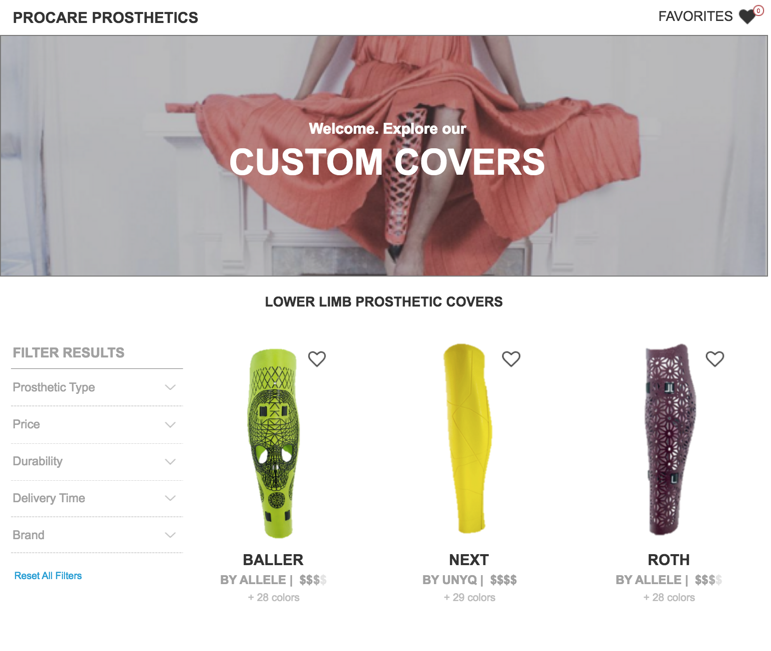 Case Study: Prosthetic Cover Marketplace