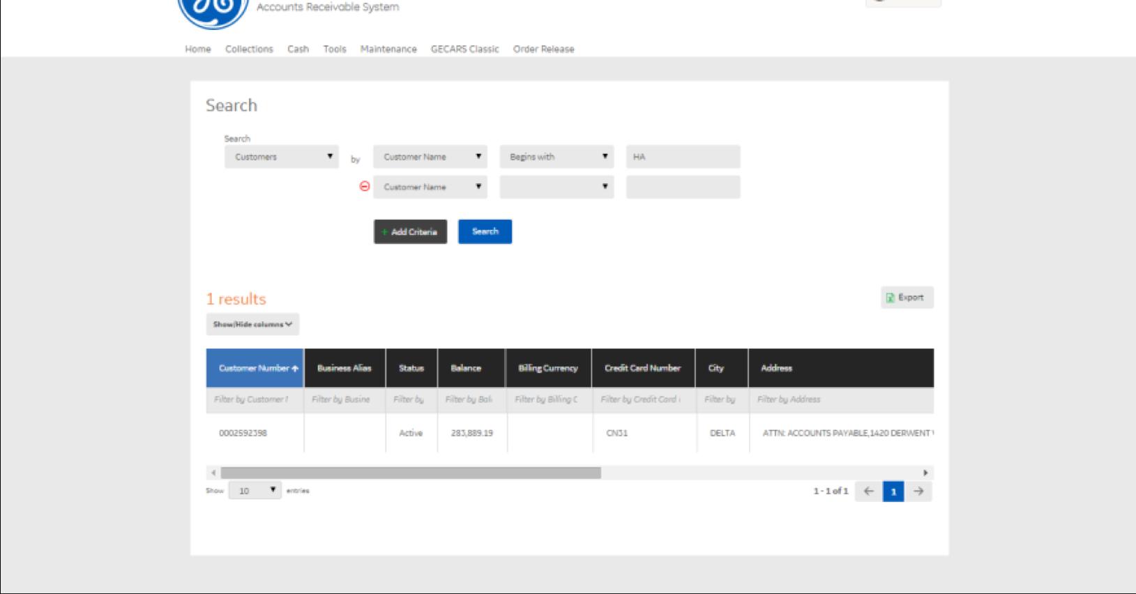 Internal Customer Management Tool
