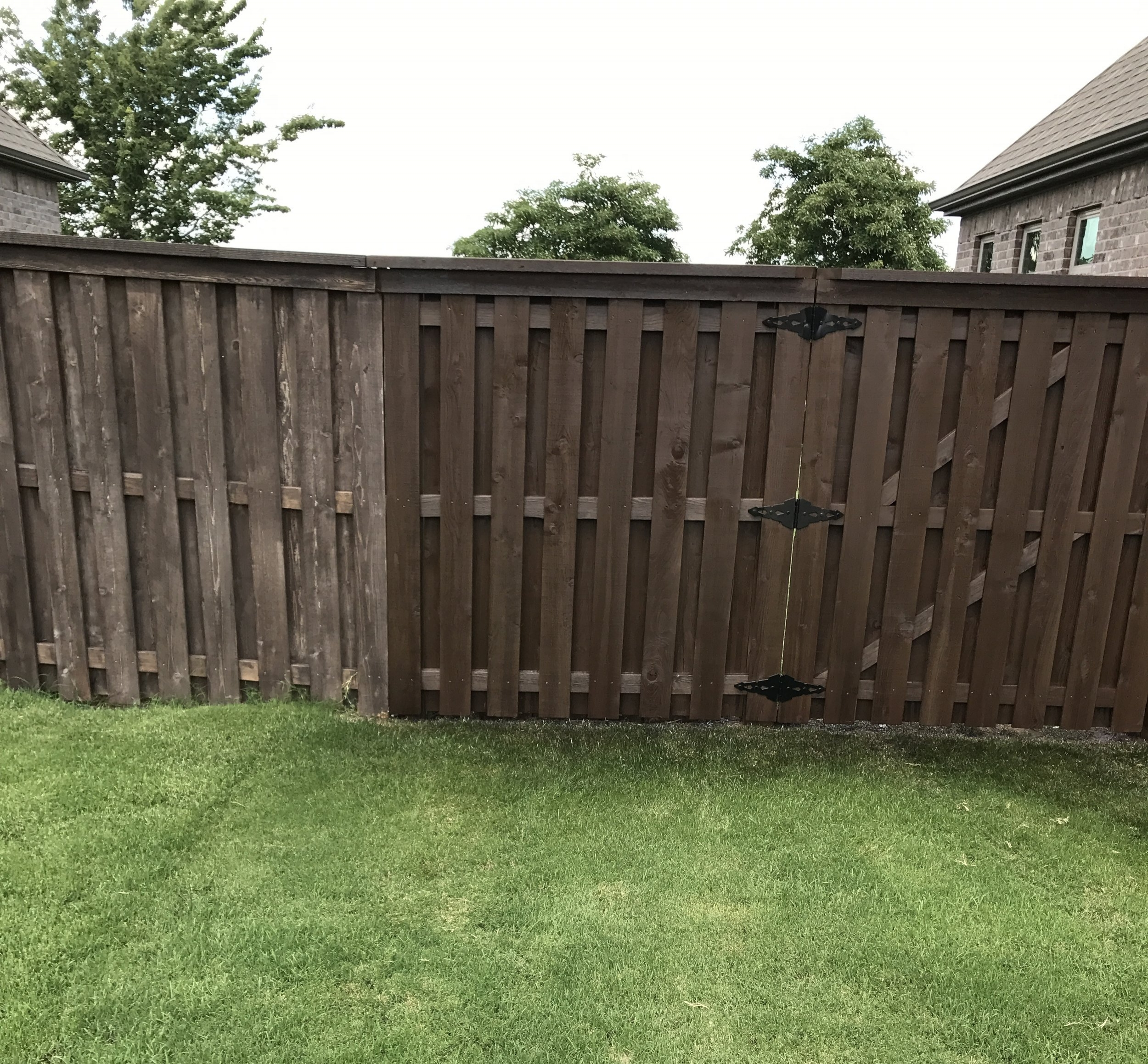 Fence Staining Company - Before and After