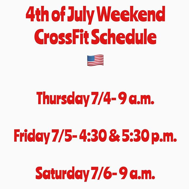 We will be open this holiday weekend!