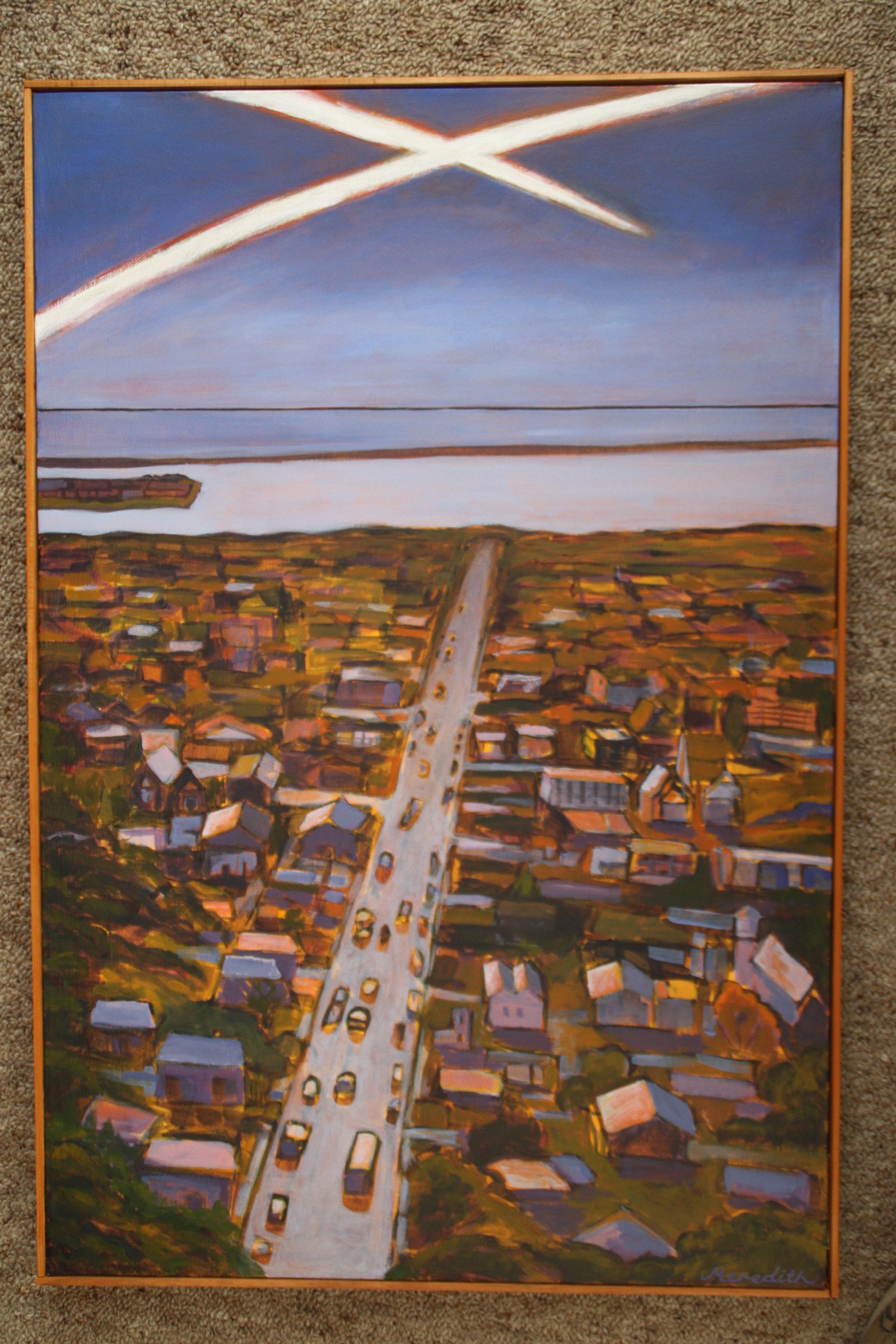 Collingwood St, Nelson  (2014). Acrylic on canvas