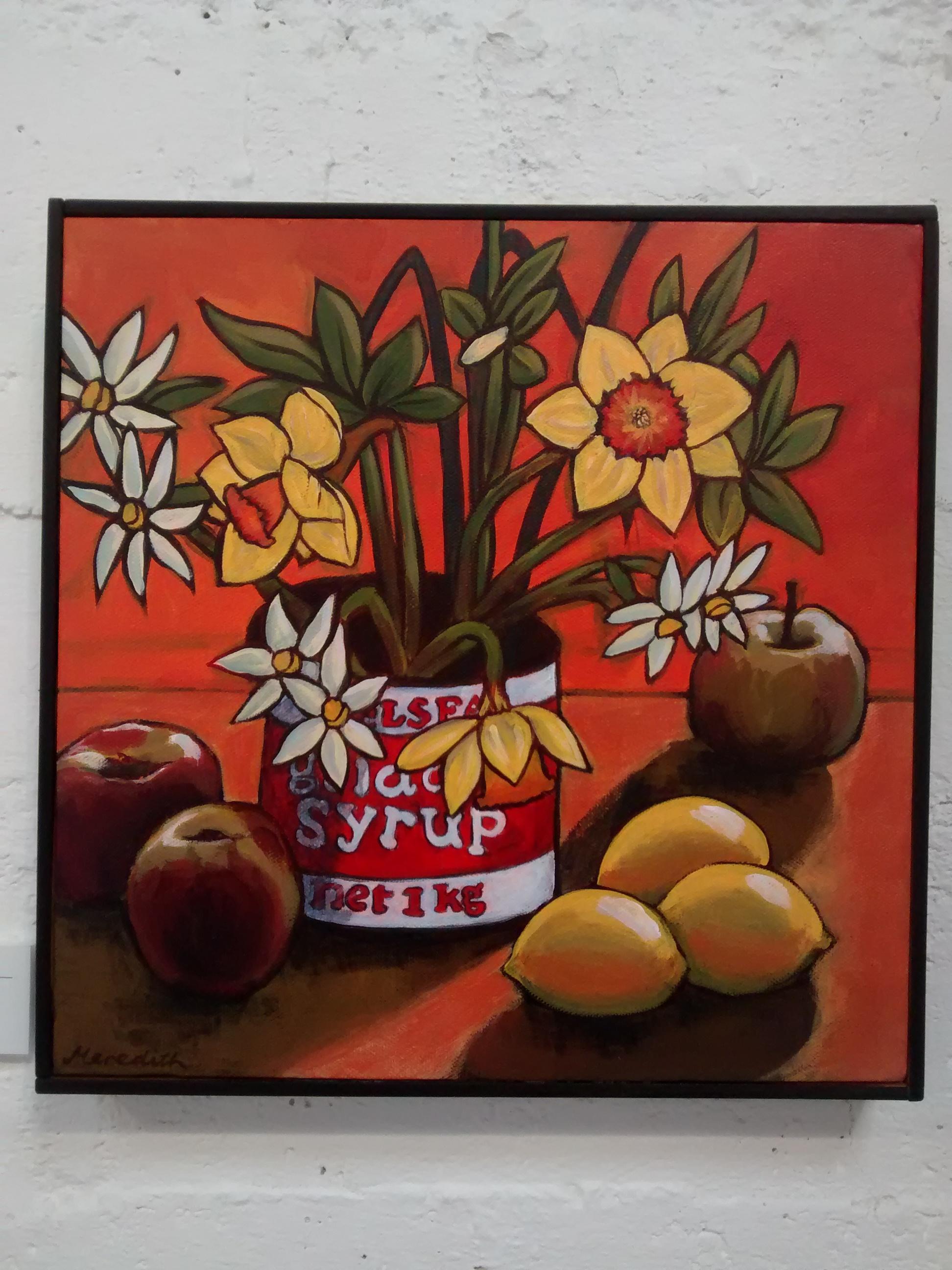 Daffodils  (2014). Framed Acrylic on Canvas
