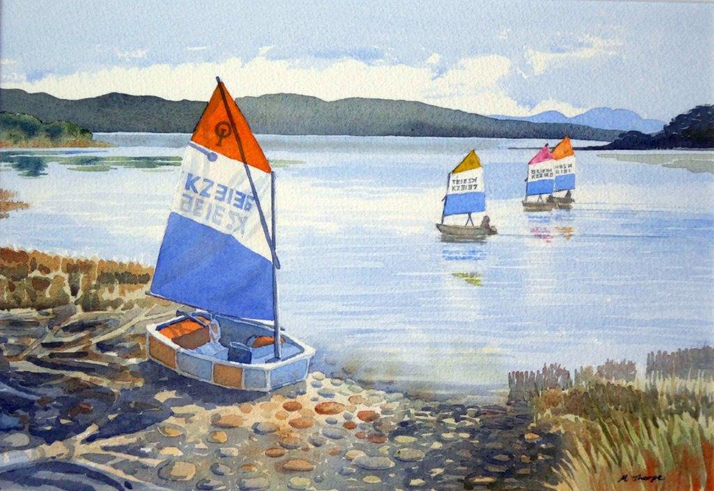 Parapara Sailing  (2016). Watercolour on paper