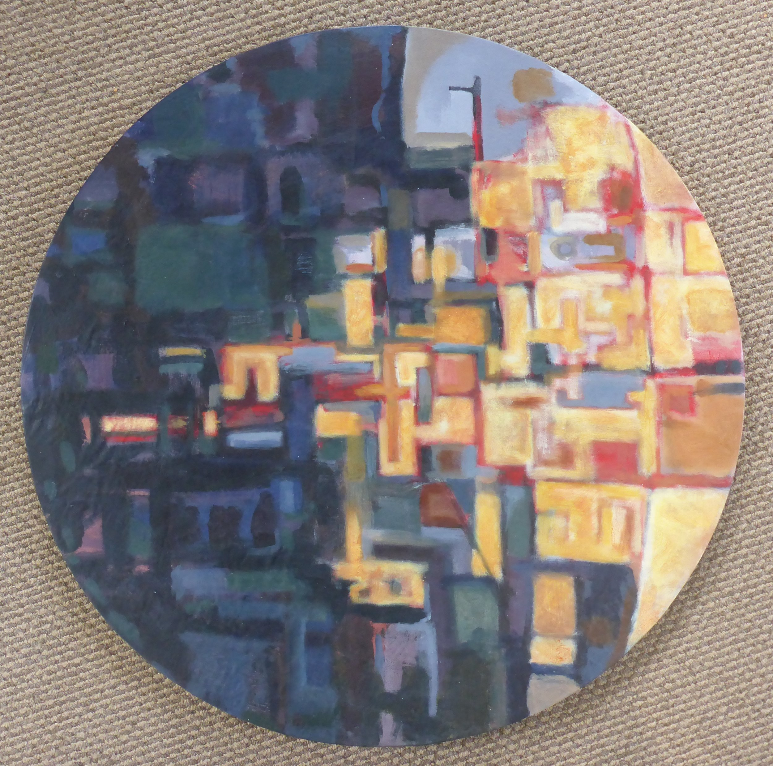Circle I  (2017). Acrylic on canvas 700mm diameter