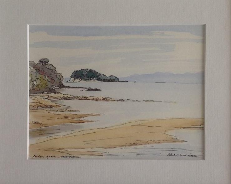 Porter's Beach, Abel Tasman . Framed Watercolour