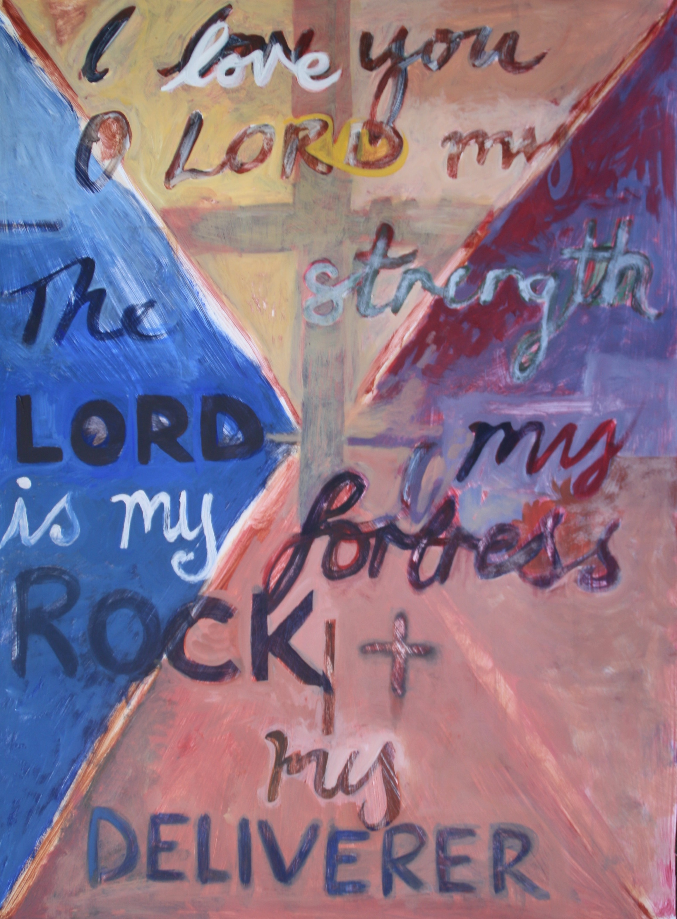 Painted Verses - Psalm 18  (2017). Acrylic on Card 640mm x 900mm