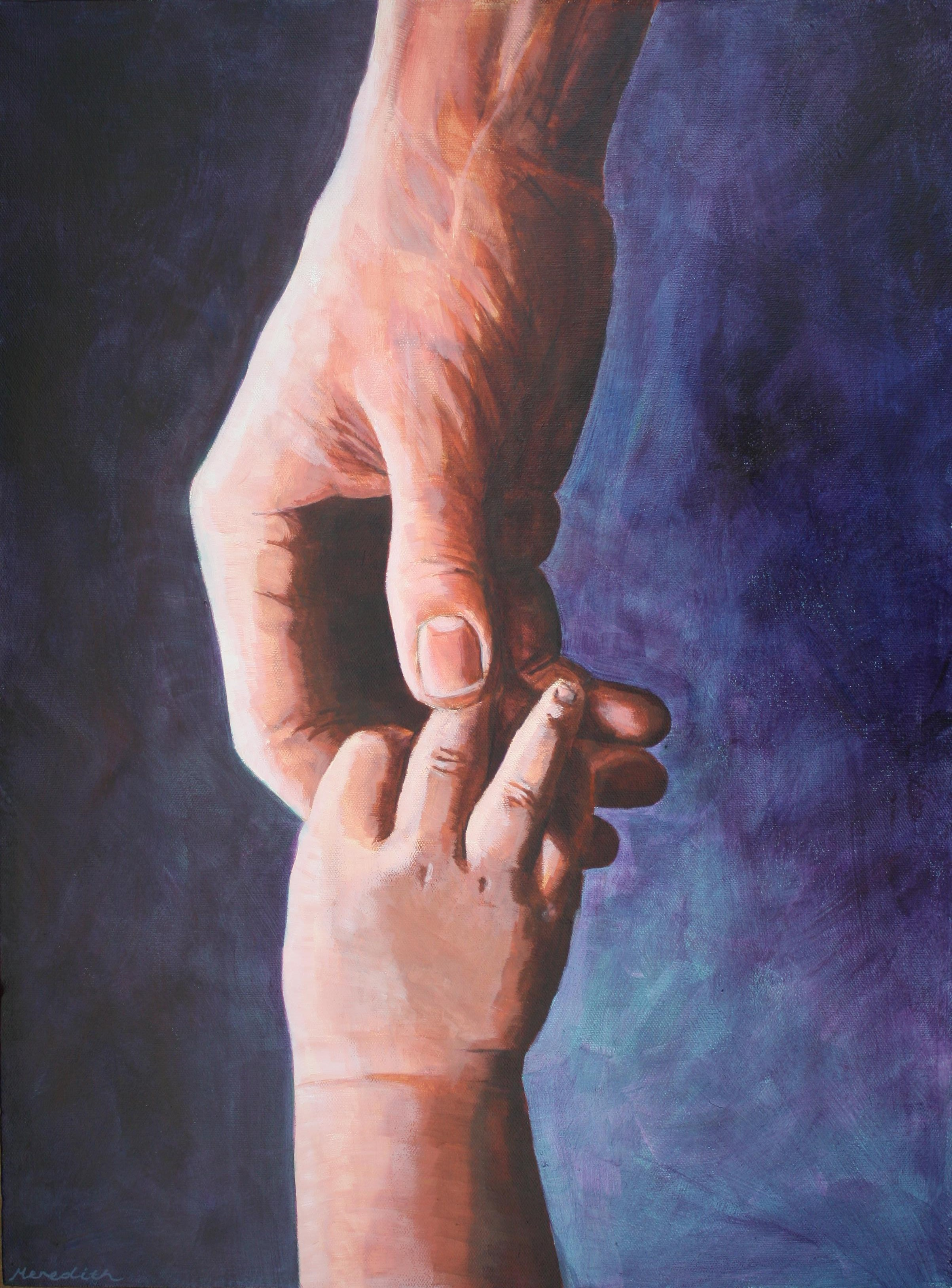Father's Love  (2013). Acrylic on canvas 450mm x 600mm