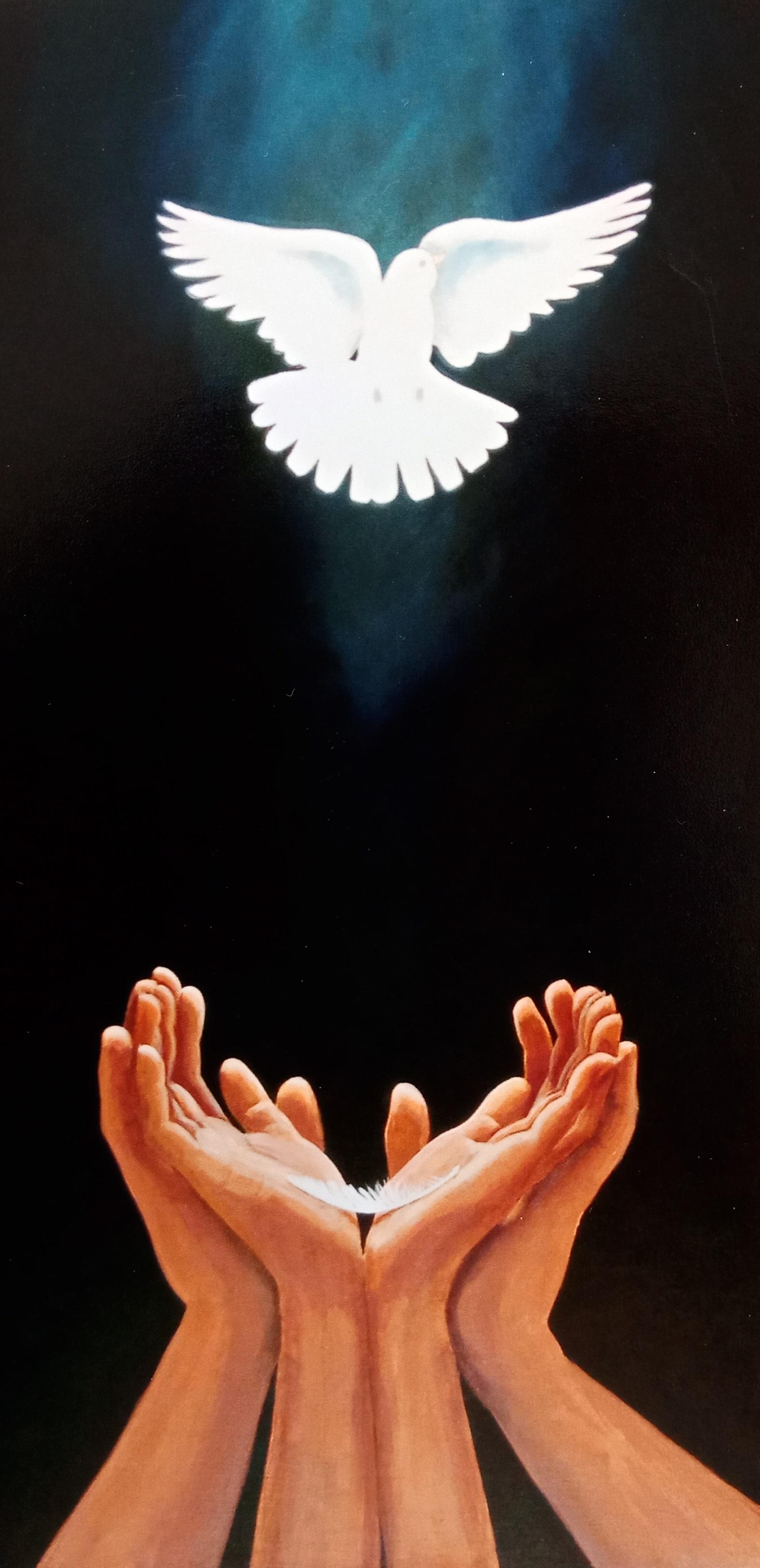 Faith, Hope and Love  (2014). Acrylic on canvas 375mm x 755mm