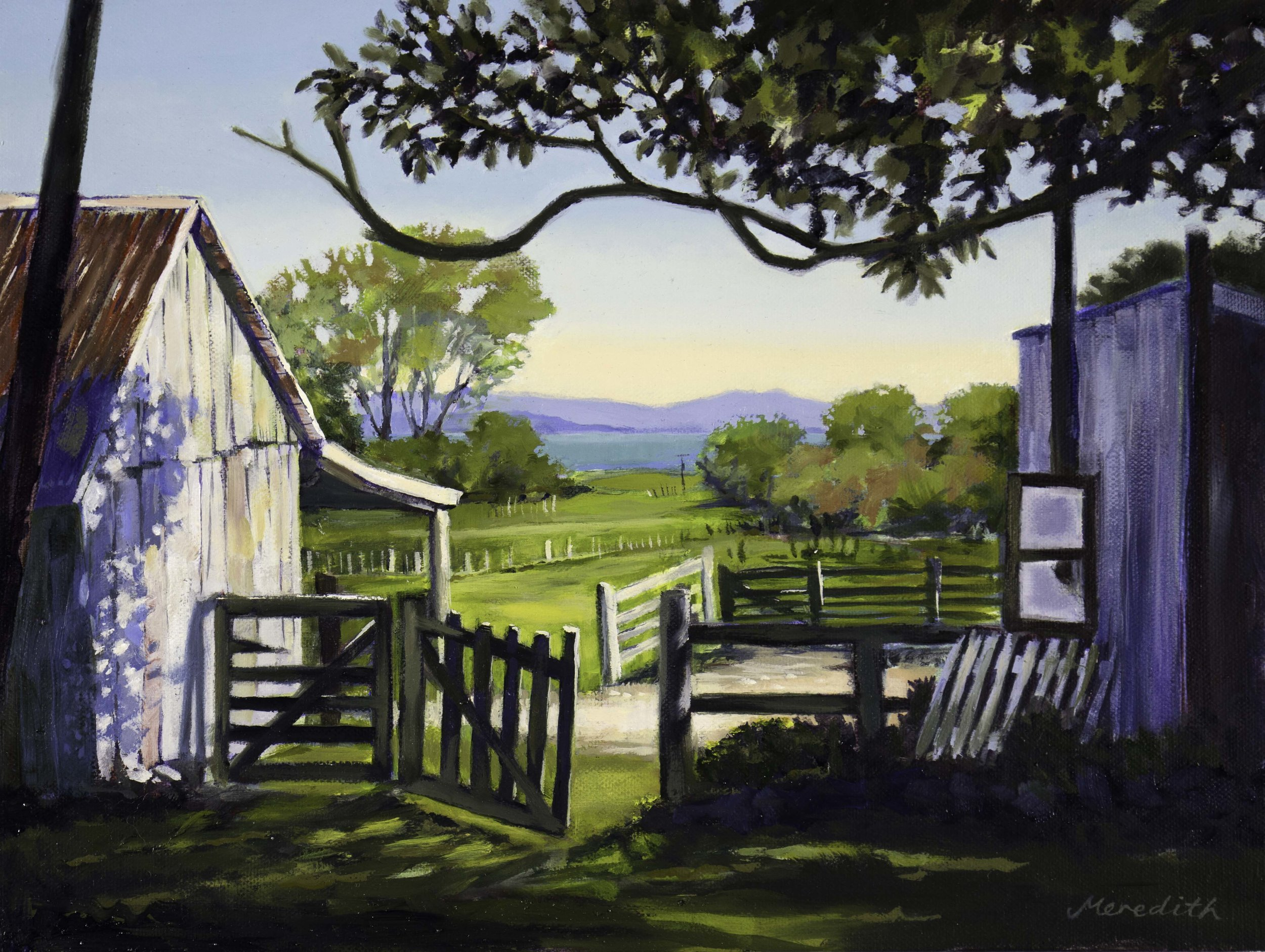 The Home Farm, Golden May  (2018). Oil on canvas (framed) 400mm x 300mm