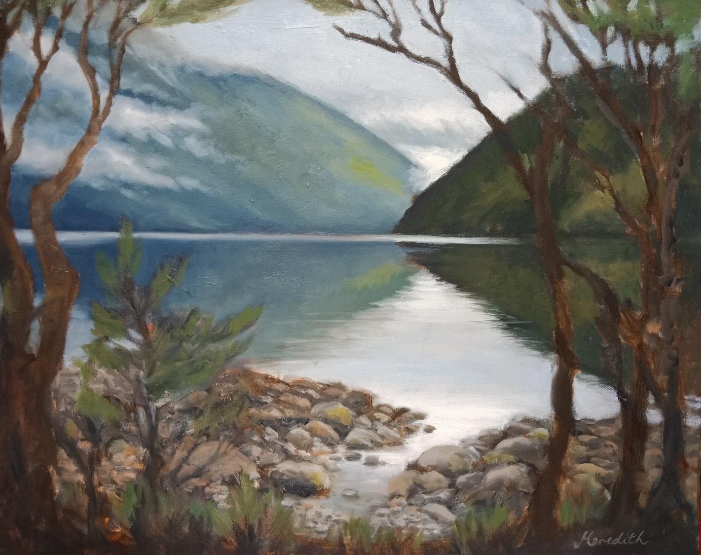 51. Lake Rotoiti Afternoon. Oil on canvas.jpg