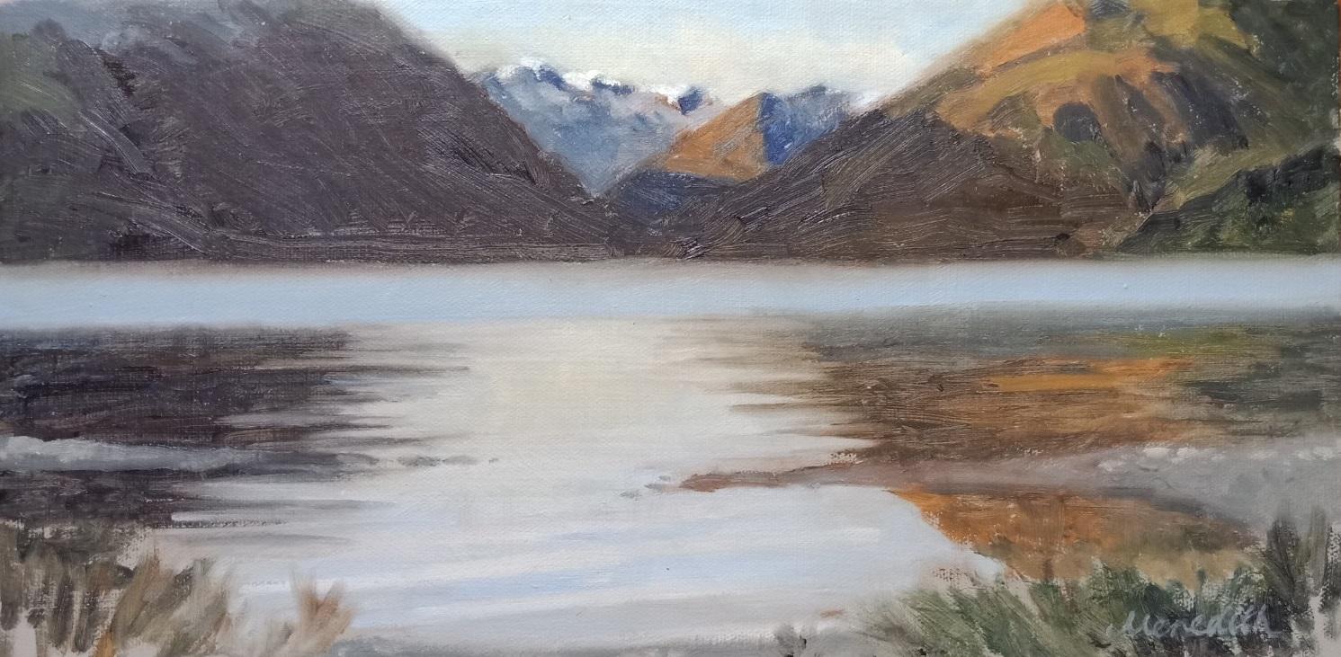 53. Lake Rotoiti Early Morning Mist. Oil on canvas.jpg