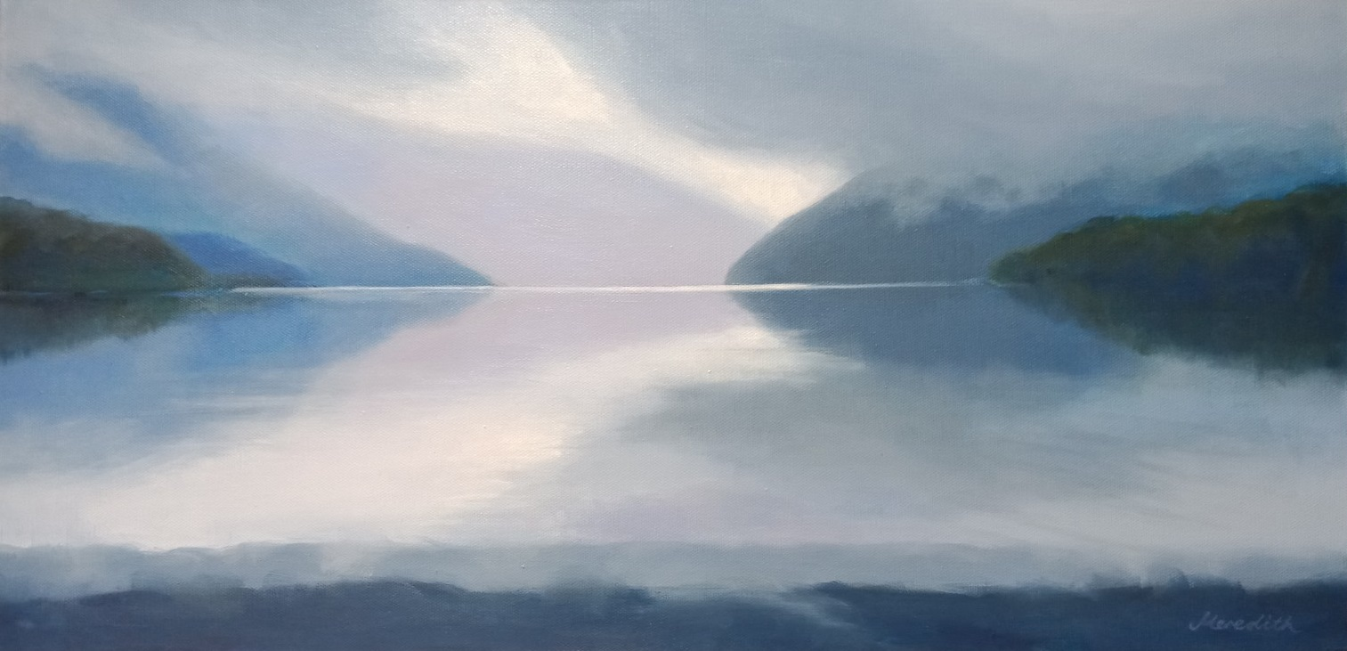 Lake Rotoiti Afternoon Showers  (2019). Oil on canvas.