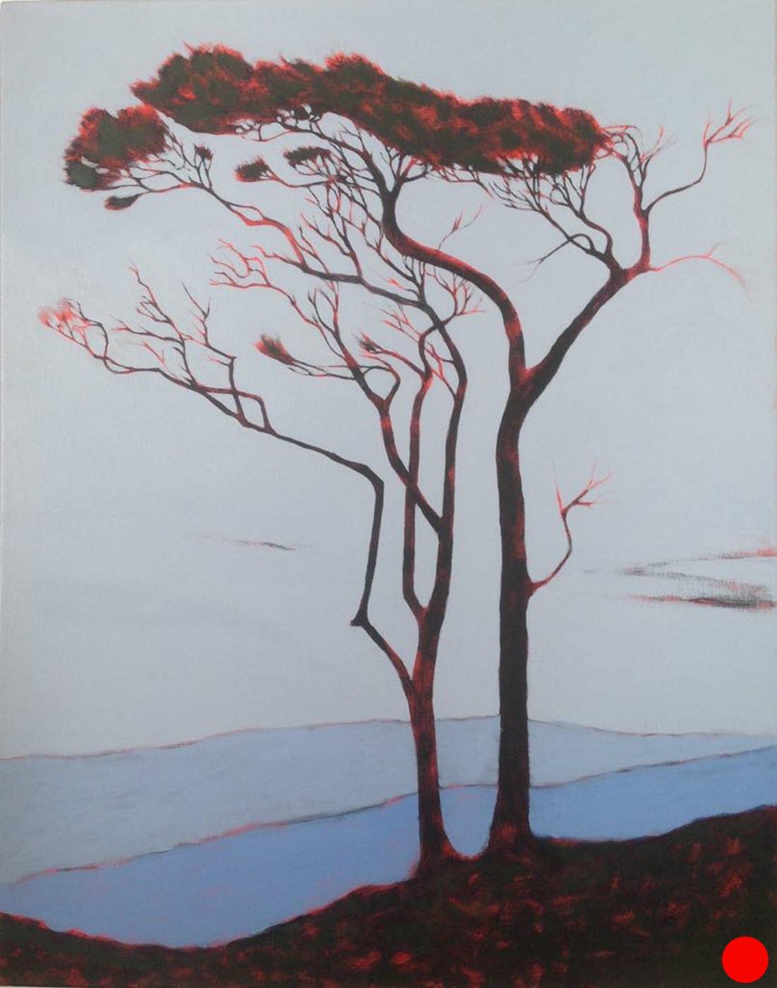 Manuka Pair  (2017). 700 mm x 650 mm. Acrylic on Canvas.