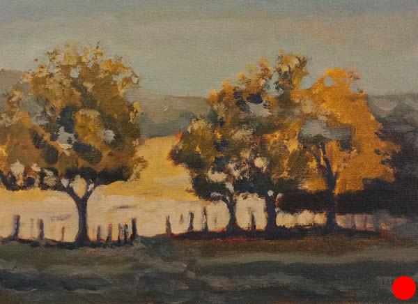 Autumn Trees  (2018). 230 mm x 300 mm. Acrylic on Panel.