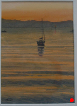 Haven Sunset  (2014). 175 mm x 120 mm. Watercolour on Paper.