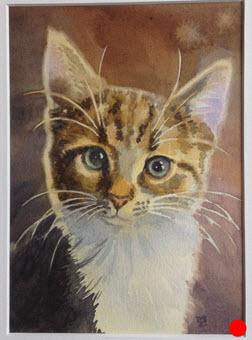 Jemima  (2018). 170 mm x 120 mm. Watercolour on Paper.