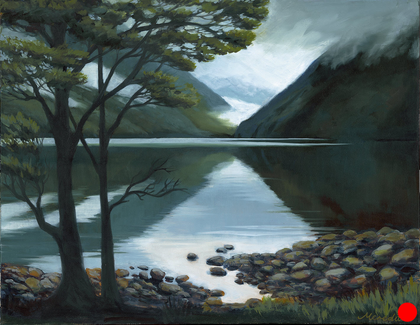 Lake Rotoiti Legacy  (2018). 560 mm x 710 mm. Oil on Canvas. Available  as a card  (#59).