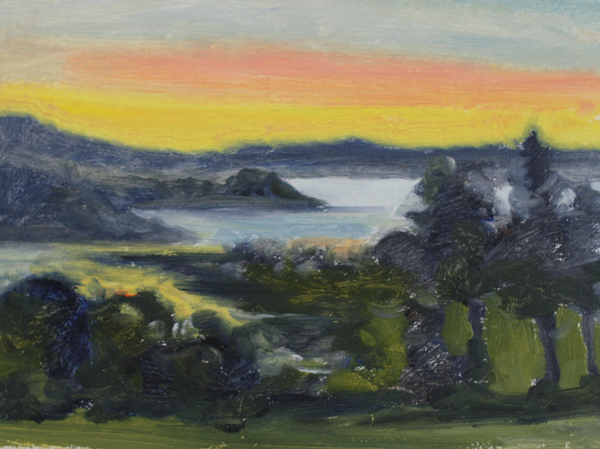 ANZAC Evening  (2019, Week 17). 230 mm x 305 mm. Oil on Paper.