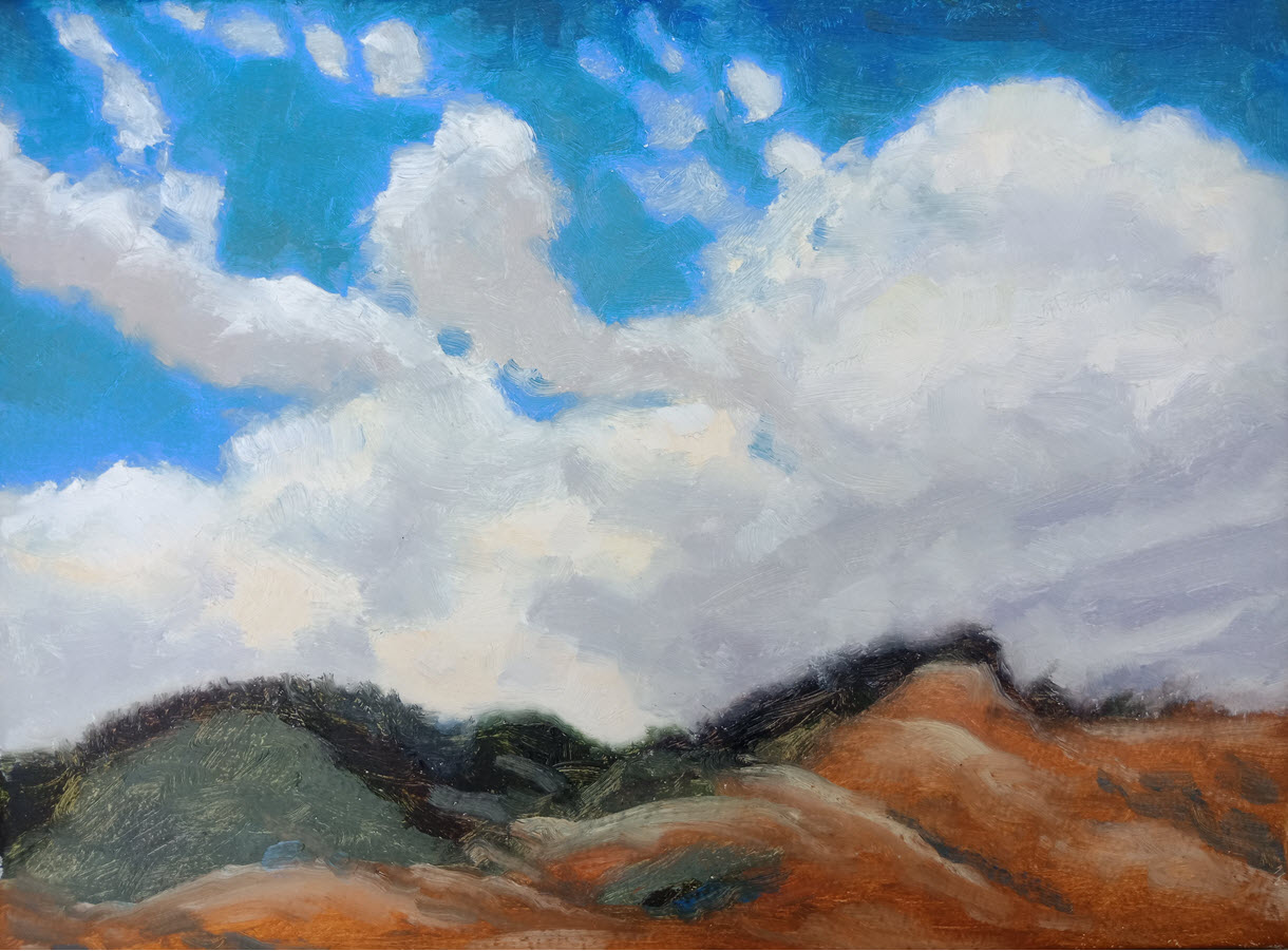 Richmond Hills  (2019, Week 13). 230 mm x 305 mm. Oil on Paper.