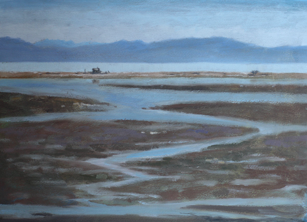 Haven Mudflats  (2018). 290 mm x 308 mm.