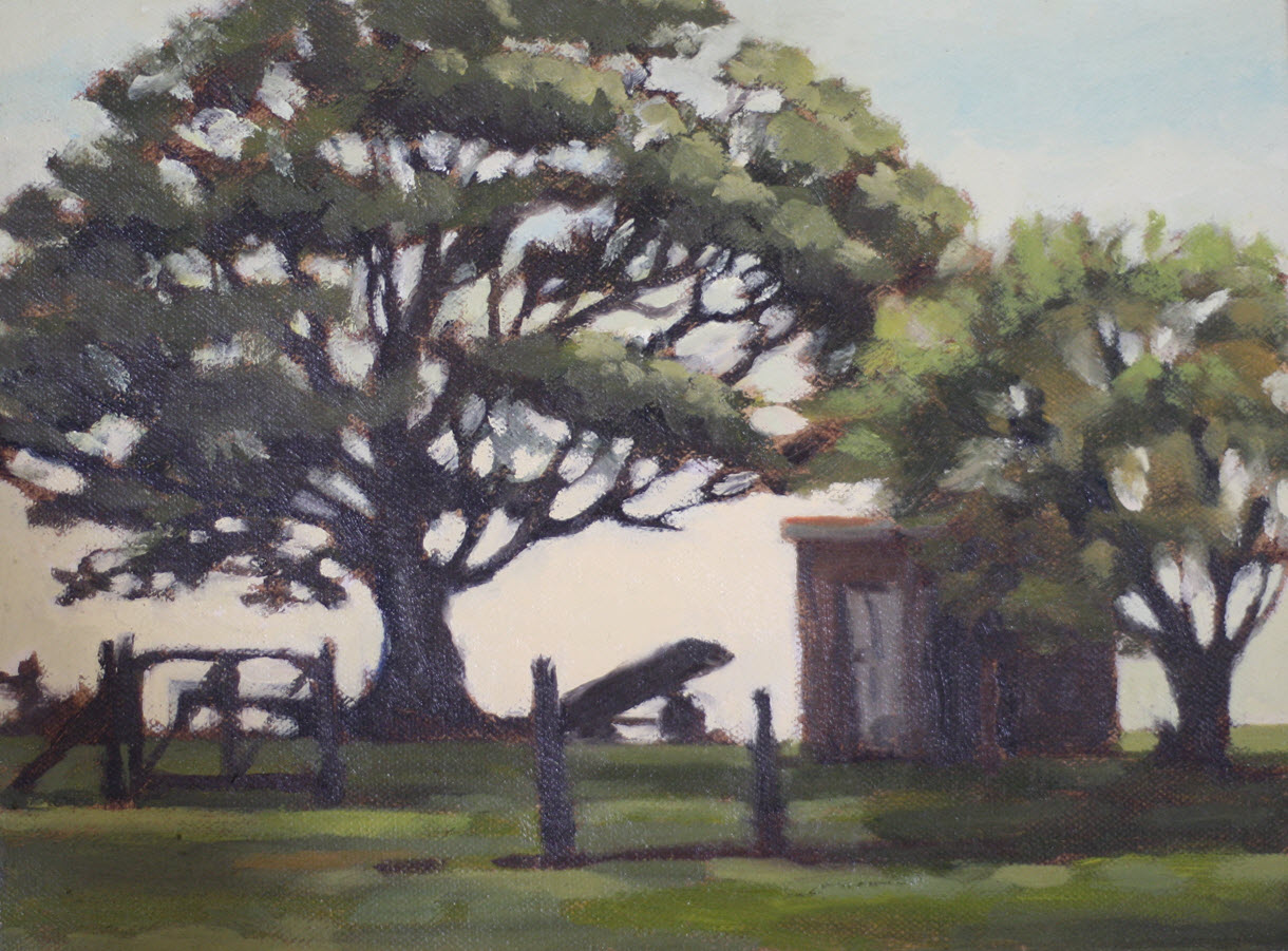 88 Valley Farm Shed  (2018). 230 mm x 305 mm. Oil on Canvas.