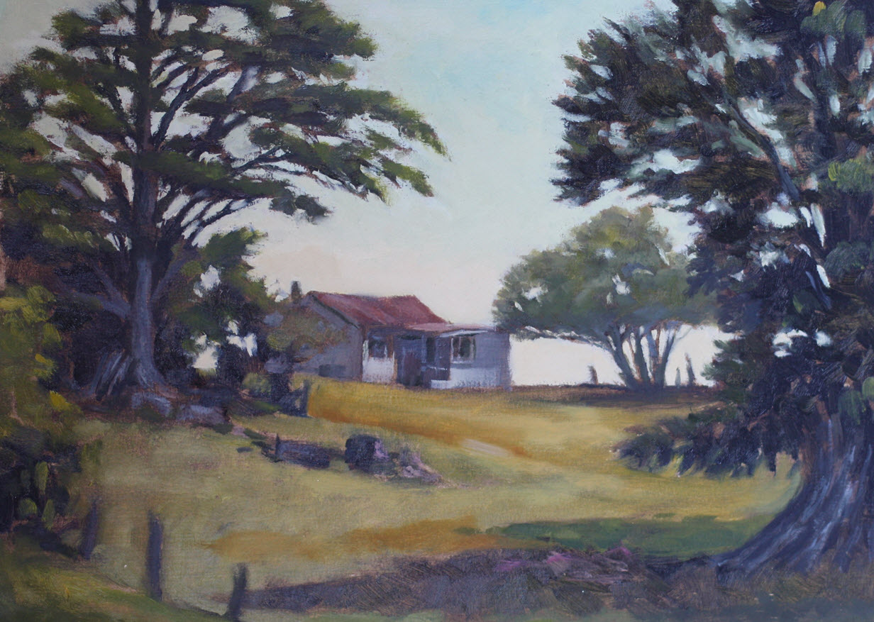 88 Valley Farm Cottage  (2018). 290 mm x 308 mm. Oil on Paper.