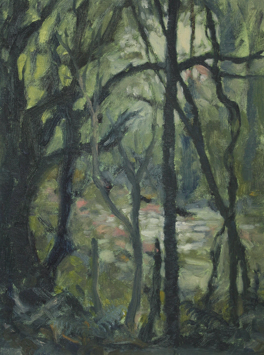 Brook Sanctuary  (2019, Week 24). 305 mm x 230 mm. Oil on Panel.