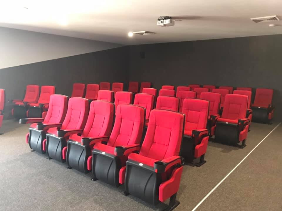 commercial cinema seating installation
