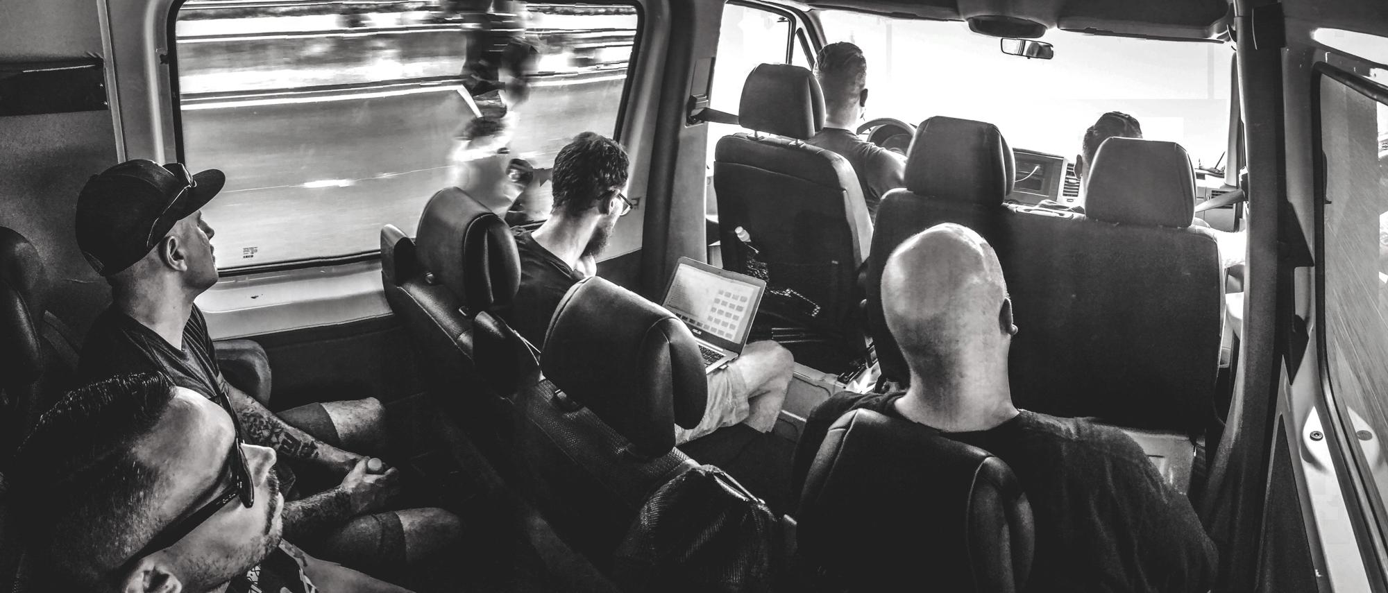 Driving to Lyon.