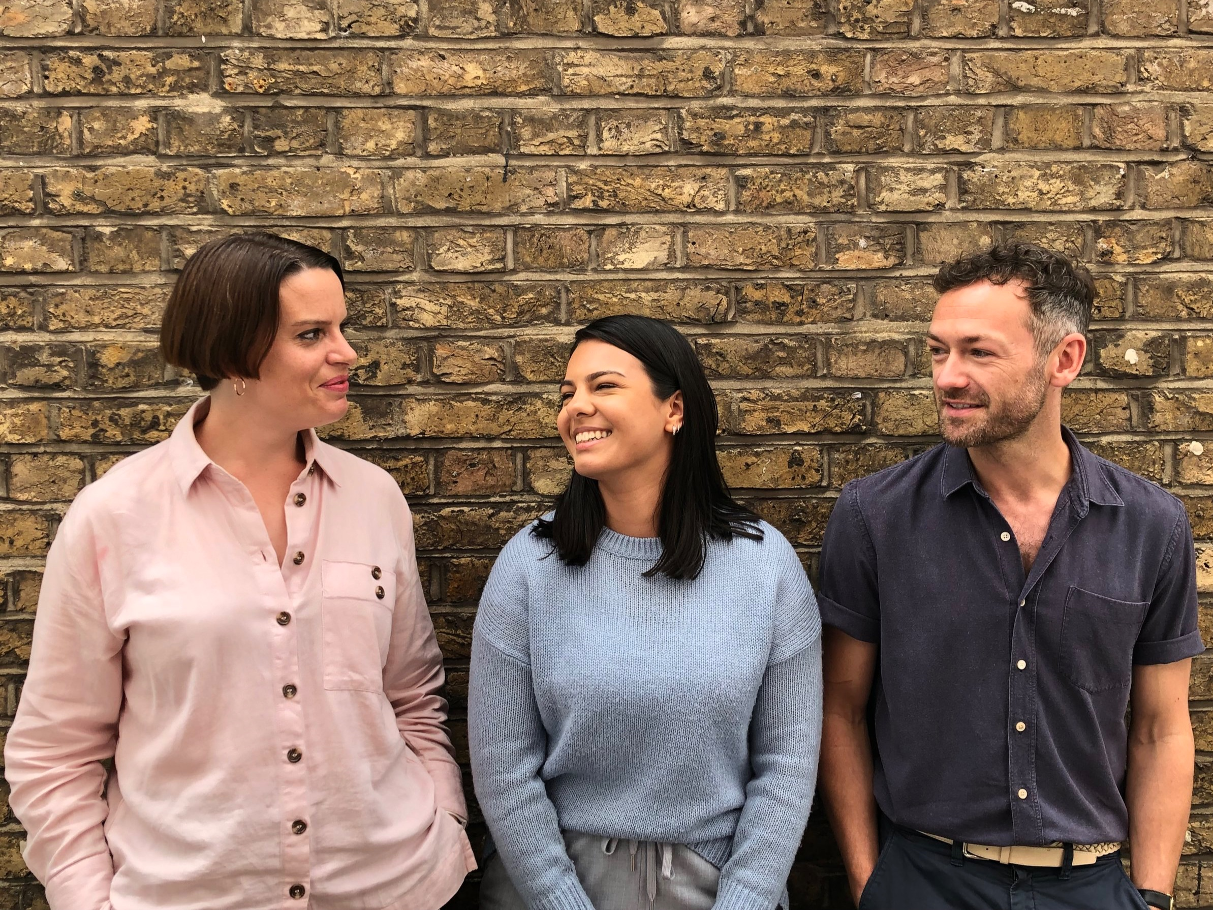From left to right: Ruth Hoyal, Sara Chandran and Ben Brooks-Dutton (R)