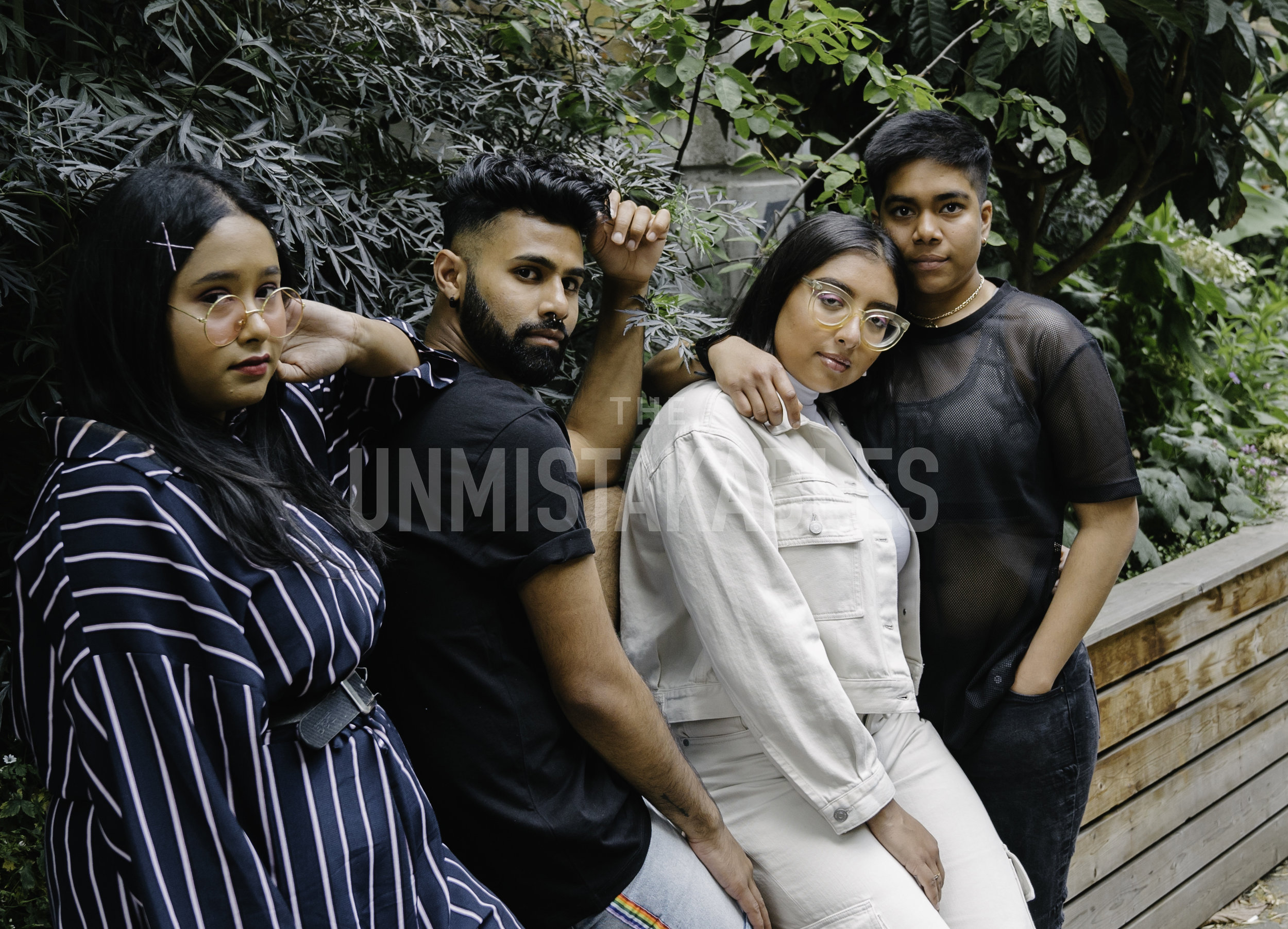 Riah Uddin - her/she // @imafauxpasRiah (left) is a 21 year old creative from London of Bangladeshi heritage, currently studying Fashion Branding and Marketing at university. She has worked for the KSWISS 2016 Summer campaign as an apprentice stylist, worked as a stylist for Colour.fielded London for the 2017 Winter Campaign and more recently as a Digital Guru for Sustainable fashion brand, Physical Novels.