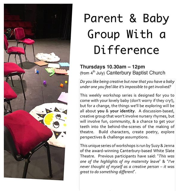 NEXT WEEK!👶🏻😊 Pop along for a one-off or sign up for the whole term, it's up to you. £5 per session (first try is free). Tea/coffee provided. We will accommodate you however we can; toys, mats & baby-changing available. Find out more at www.whiteslatetheatre.co.uk, email: info@whiteslatetheatre.co.uk or text. Mums/Dads/Grandparents welcome. 🕺🏻🌈 DO SOMETHING FOR YOU 💐🌞 #parentandbaby #creativeparent #TakeaNAPP #mushmums #bossyfollowthread #motherswhomake #babybrain #coffeeandchaos