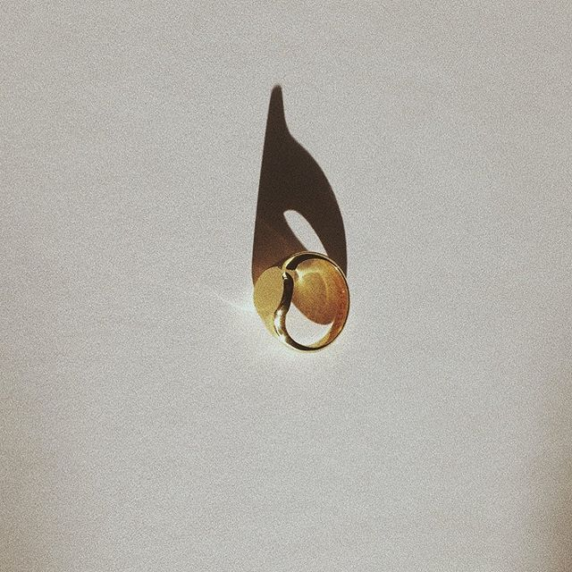 — gold plated brass signet, made to order @mano_objects @mano_objects