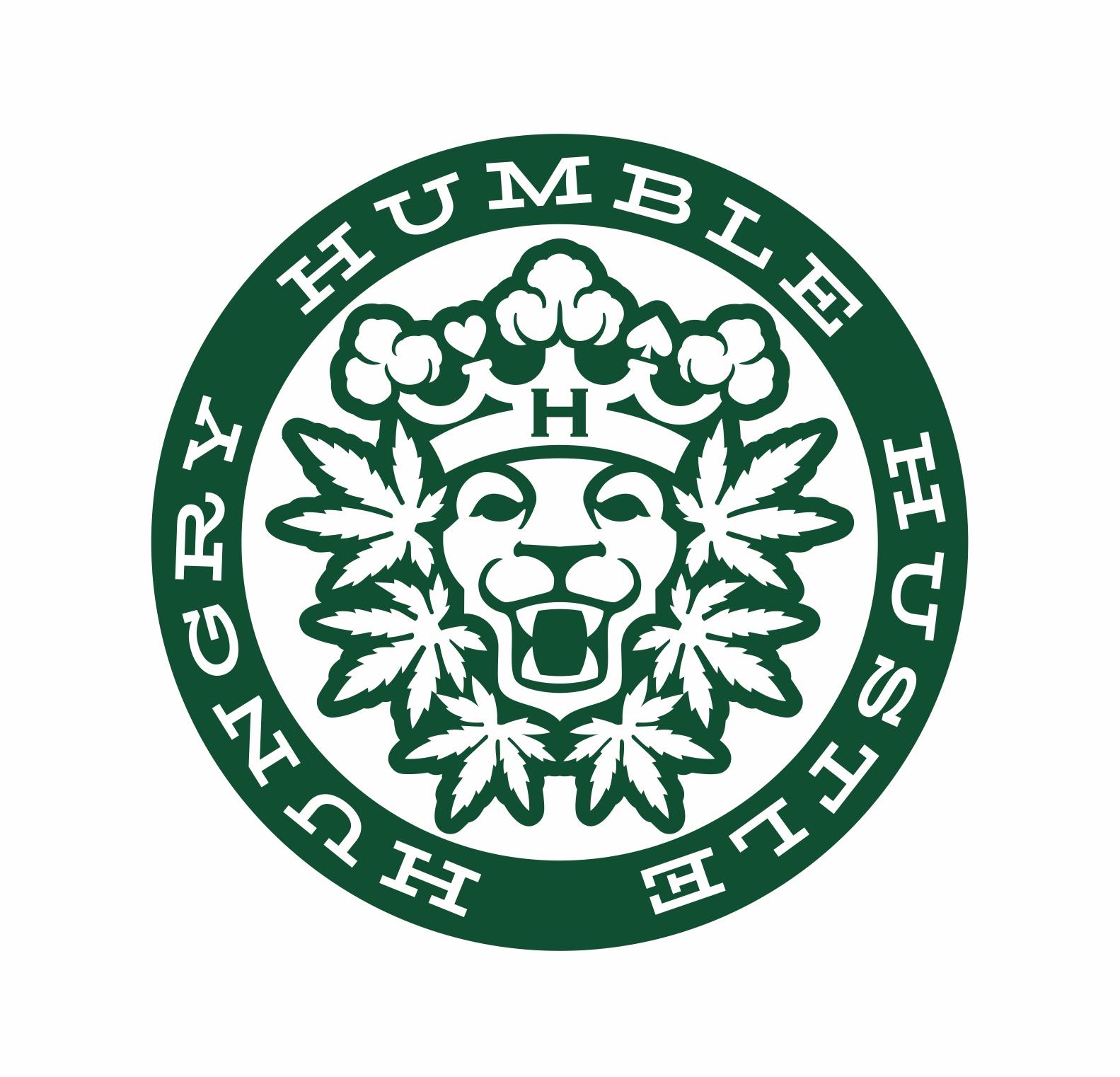 Marijuana lion logo emblem.   Logotip s prikazom lava okruženog listovima marihuane.