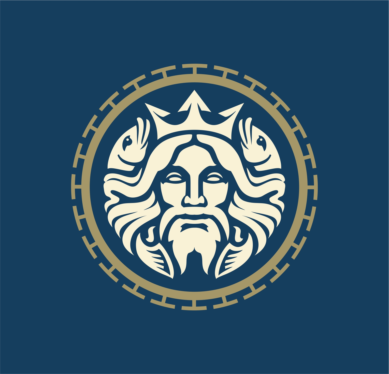 Modern Poseidon / Neptune logo.   Logo s prikazom Posejdona / Neptuna.