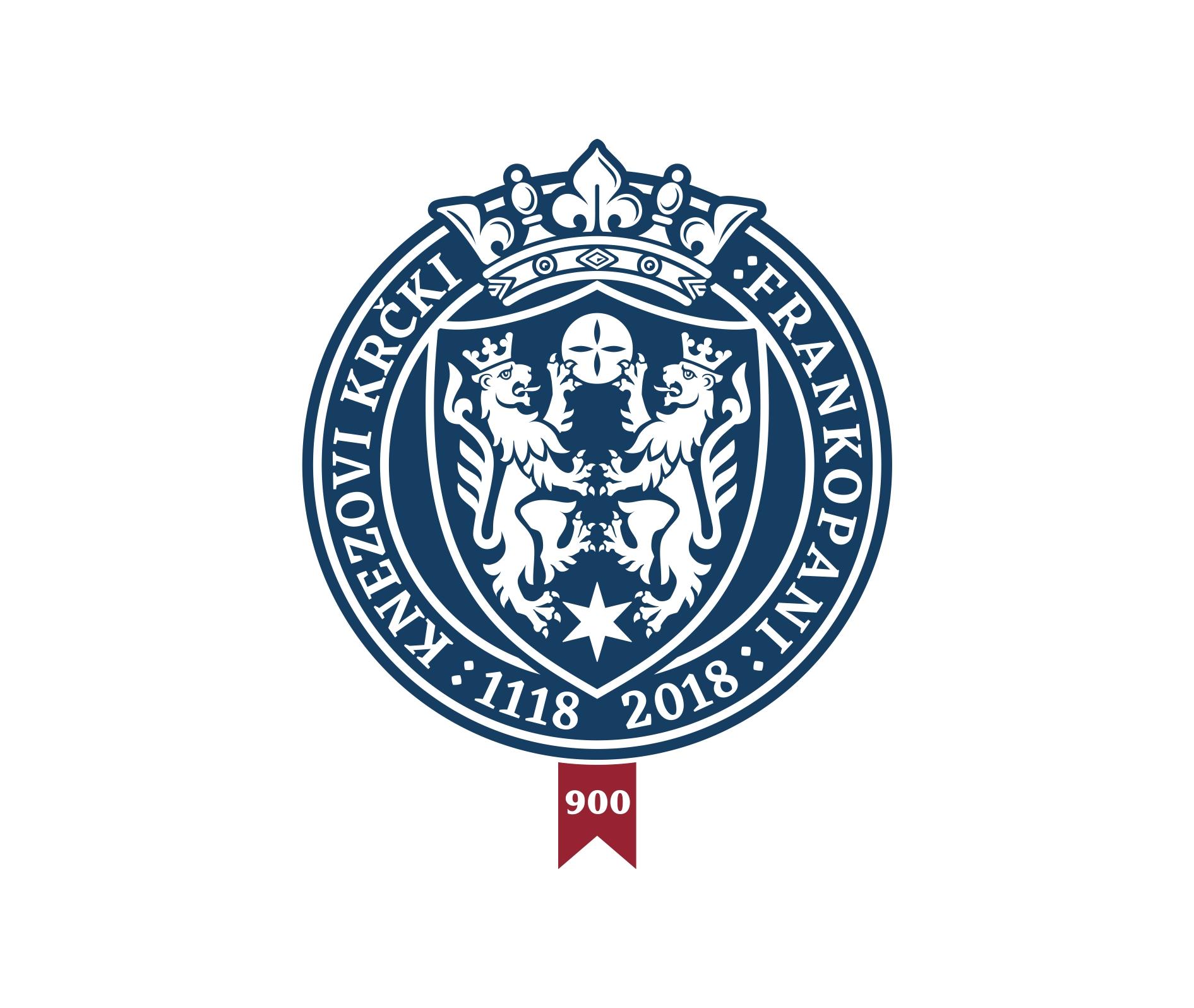 Logo emblem with lion crest.   Logotip s grbom Frankopana