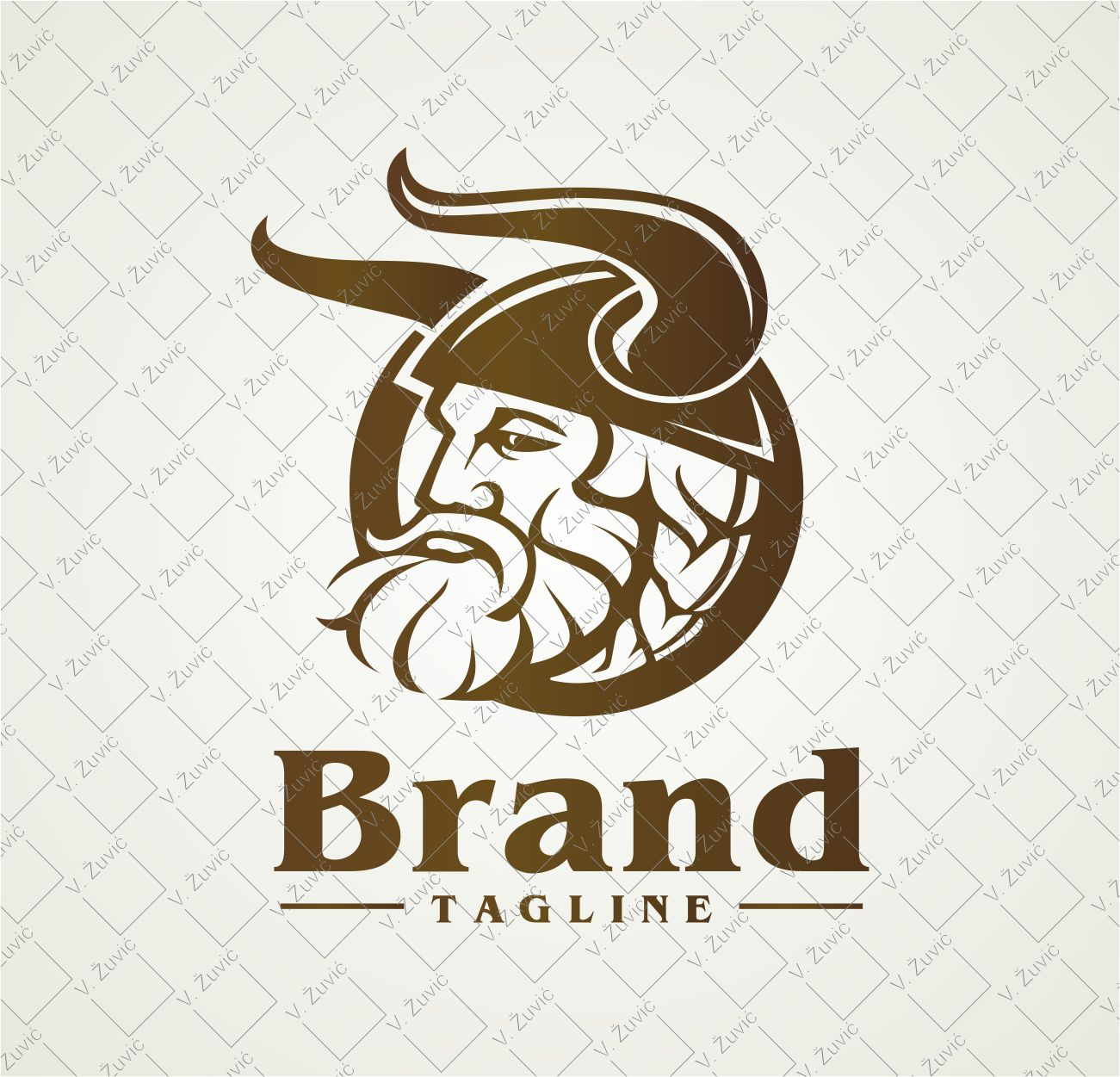 Logo is available for sale. Viking logo design.   Logotip je dostupan za prodaju. Dizajn logotipa - viking.